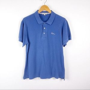 Burberry Slim Fit Cotton Navy Polo Shirt